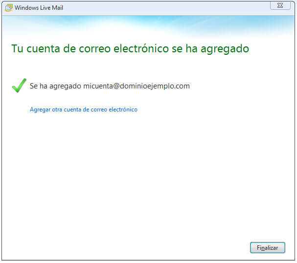 Configurar Correo Windows Live Gmail Finalizar